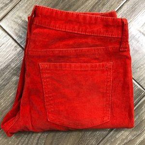 Gap orange corduroy skinny pants